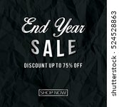 end year sale with texture of... | Shutterstock .eps vector #524528863