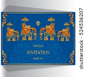 indian wedding invitation ... | Shutterstock .eps vector #524536207