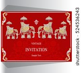 indian wedding invitation ... | Shutterstock .eps vector #524536243
