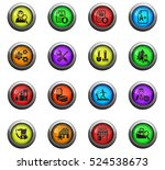 job search icons on color round ... | Shutterstock .eps vector #524538673