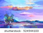 abstract oil painting ... | Shutterstock . vector #524544103