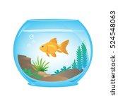 goldfish in bowl | Shutterstock .eps vector #524548063
