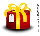 gift box. vector rounded red... | Shutterstock .eps vector #524550943