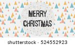 merry christmas background.... | Shutterstock .eps vector #524552923