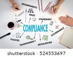 compliance concept. the meeting ... | Shutterstock . vector #524553697