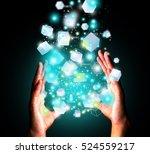 hand holding technology | Shutterstock . vector #524559217