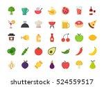 material flat design food  ... | Shutterstock .eps vector #524559517