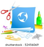 abstract recycle symbol. vector ... | Shutterstock .eps vector #52456069