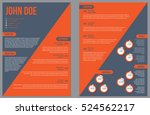 two sided resume curriculum... | Shutterstock .eps vector #524562217