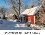 Red Cottage On A Path In The...