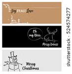 set of christmas and new year... | Shutterstock .eps vector #524574277