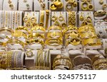 gold jewelry at the egyptian...   Shutterstock . vector #524575117