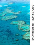great barrier reef from above ... | Shutterstock . vector #524587297