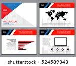 business template design set...   Shutterstock .eps vector #524589343