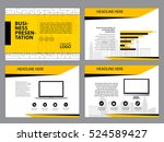 page layout design template for ... | Shutterstock .eps vector #524589427