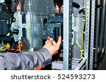 electrician near the low... | Shutterstock . vector #524593273