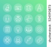 science and research line icons ... | Shutterstock .eps vector #524593873