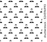 teacher pattern. simple... | Shutterstock . vector #524596993