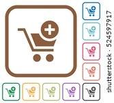 add item to cart simple icons... | Shutterstock .eps vector #524597917