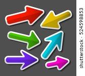 arrow. colorful paper vector... | Shutterstock .eps vector #524598853