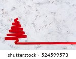 christmas tree made of ribbon... | Shutterstock . vector #524599573