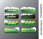 christmas vector green glossy... | Shutterstock .eps vector #524600893
