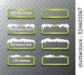 christmas vector green glossy... | Shutterstock .eps vector #524601067