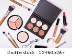 professional makeup tools ... | Shutterstock . vector #524605267