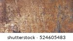 old rust eroded metal iron... | Shutterstock . vector #524605483
