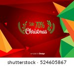 vector happy new year design  ... | Shutterstock .eps vector #524605867
