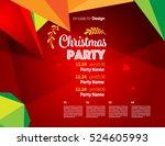 vector happy new year design  ... | Shutterstock .eps vector #524605993