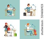 creative people working in co... | Shutterstock .eps vector #524606923