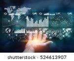 businessman holding digital... | Shutterstock . vector #524613907