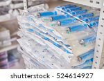 syringe and needle   sterile... | Shutterstock . vector #524614927