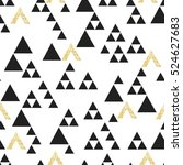 gold geometric triangle... | Shutterstock .eps vector #524627683
