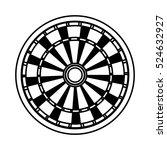 dart board game icon vector... | Shutterstock .eps vector #524632927