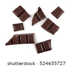 chocolate bars isolated on... | Shutterstock . vector #524655727