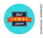 best choice web icon.best... | Shutterstock .eps vector #524656267