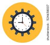 time management vector... | Shutterstock .eps vector #524658037
