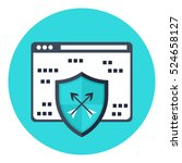 network protection icon... | Shutterstock .eps vector #524658127