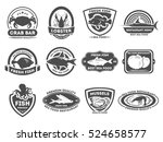 retro seafood logo  emblems and ... | Shutterstock . vector #524658577