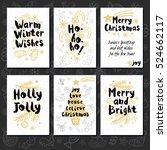merry christmas. happy new in... | Shutterstock .eps vector #524662117