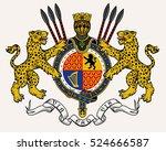 vector heraldic illustration in ... | Shutterstock .eps vector #524666587
