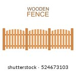 wooden fence isolated on white... | Shutterstock .eps vector #524673103
