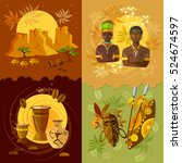 african set  culture and...   Shutterstock .eps vector #524674597