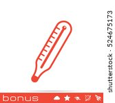 medical thermometer icon | Shutterstock .eps vector #524675173