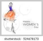 greeting card   international... | Shutterstock .eps vector #524678173