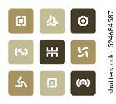 vector flat icons set  ... | Shutterstock .eps vector #524684587