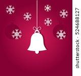 christmas bell ornament on...   Shutterstock .eps vector #524688127