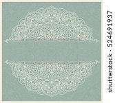 wedding invitation or greeting... | Shutterstock .eps vector #524691937